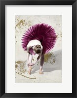 Framed Purple Ballerina