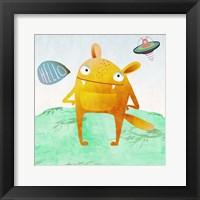 Alien Friend #4 Framed Print