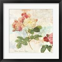 Framed Redoute's Roses 2.0 I