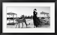 Framed Woman with Cheetah