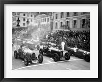 Framed Le depart du Grand Prix de Monaco 1932