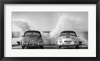 Framed Ocean Waves Breaking on Vintage Beauties (BW)