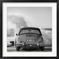 Framed Ocean Waves Breaking on Vintage Beauties (BW detail 1)