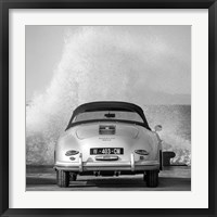 Framed Ocean Waves Breaking on Vintage Beauties  (BW detail 2)