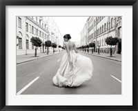 Framed Walking Down a Road