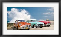 Framed Cars in Avenida de Maceo, Havana, Cuba
