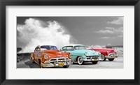 Framed Cars in Avenida de Maceo, Havana, Cuba (BW)