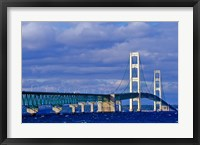 Framed Mackinac Bridge, Michigan
