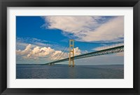 Framed Blue Skies over the Mackinac Bridge