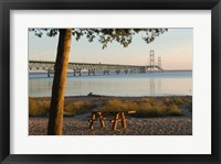 Framed Mackinac Bridge, Mackinaw City