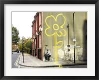 Framed Pollard Street, London (graffiti attributed to Banksy)
