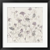 Framed Garden Shadows III Purple Grey