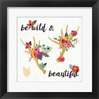 Framed Boho Beauty I