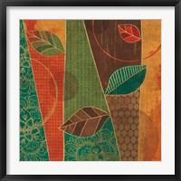Framed Bohemian Leaves III