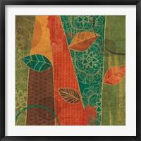 Framed Bohemian Leaves II