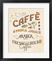 Authentic Coffee VII Framed Print