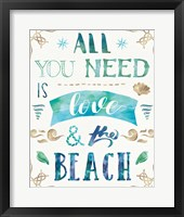 Framed Love and the Beach I