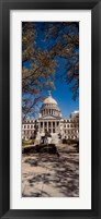 Framed Statue outside a Government Building, Mississippi State Capitol, Jackson, Mississippi
