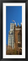 Framed Clock tower, Lamar Life Building, St. Andrew's Church, Jackson, Mississippi