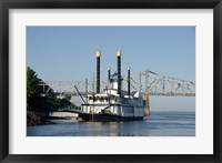 Framed Paddlewheel boat and casino, Mississippi River, Mississippi