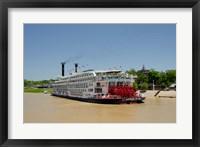 Framed Mississippi, Vicksburg American Queen cruise paddlewheel boat
