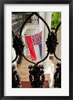 Framed Mississippi Mississippi state flag at the Waverley Plantation