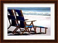 Framed Beach Chairs, Umbrella, Ship Island, Mississippi