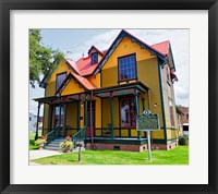 Framed Exterior of Tennessee Williams' Birthplace, Columbus, Mississippi