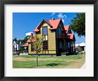 Framed Tennessee Williams Home, Columbus, Mississippi