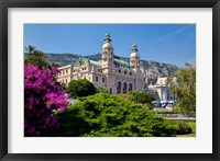 Framed Gardens surround Monte Carlo Casino, Monaco