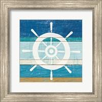 Framed Beachscape VI Helm White