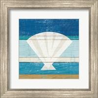 Framed Beachscape Shell