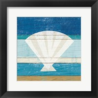 Framed Beachscape Shell