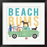 Framed Beach Bums Truck I Square
