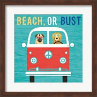 Framed Beach Bums Bus