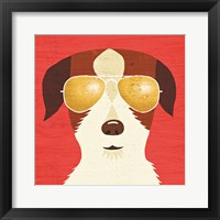 Framed Beach Bums Terrier I