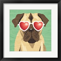 Framed Beach Bums Pug I