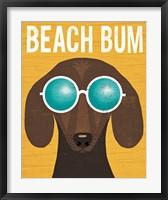 Framed Beach Bums Dachshund I Bum