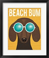 Framed Beach Bums Dachshund I Bum