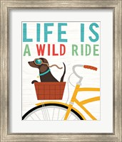 Framed Beach Bums Dachshund Bicycle I Life