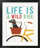 Framed Beach Bums Dachshund Bicycle I Life