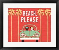Framed Beach Bums Beetle I