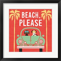 Framed Beach Bums Beetle I Square