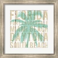 Framed Bon Voyage Florida Palm