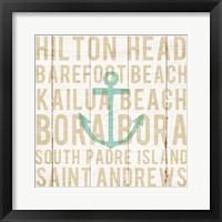 Framed Bon Voyage Anchor
