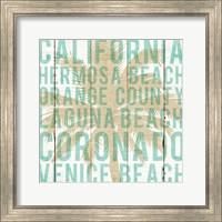 Framed Bon Voyage California Palm