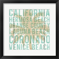 Framed Bon Voyage California Palm