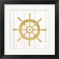 Framed Beachscape VI Helm Gold Neutral