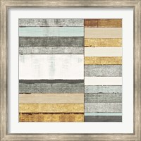 Framed Beachscape II Gold Neutral