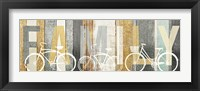 Framed Beachscape Bicycle Family Gold Neutral